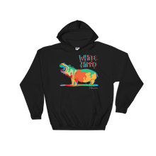 Painted Hippo- Hooded Sweatshirt