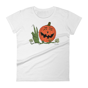 """Happy Hippy Peaceful Pumpkin""- Women's Short Sleeve T-Shirt"