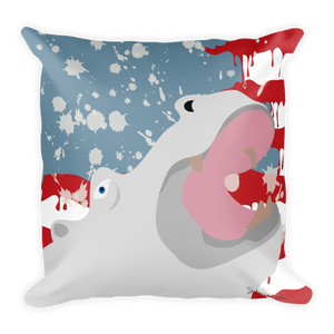 "***OFFICIAL*** ""WHITE HIPPO USA""- Double Sided Square Pillow"
