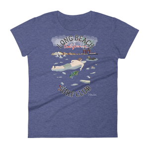 """Long Beach Surf Club""- Women's Short Sleeve T-Shirt"