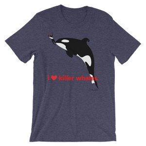 i ♥ killer whales. - Men's Short Sleeve T-Shirt