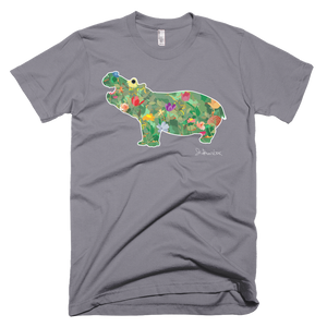 Flower Hippo- Short Sleeve T-Shirt