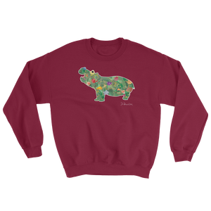 Flower Hippo- Sweatshirt