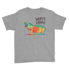 Painted Hippo- Youth Short Sleeve T-Shirt