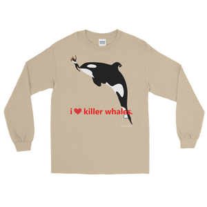 i ♥ killer whales. - Long Sleeve T-Shirt