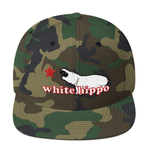 The Semi-Official White Hippo- Wool Blend Snapback