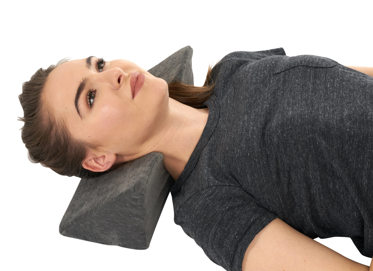 Restorative Cervical Traction Neck Fulcrum Wedge Pillow