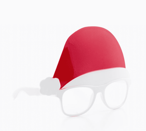 Christmas Glasses & Hat