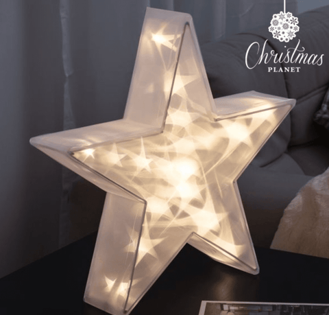 Image of Big Christmas Star with LED lights