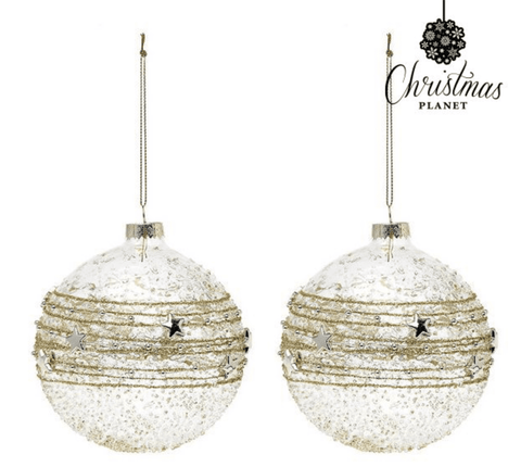 Crystal Golden Christmas Baubles
