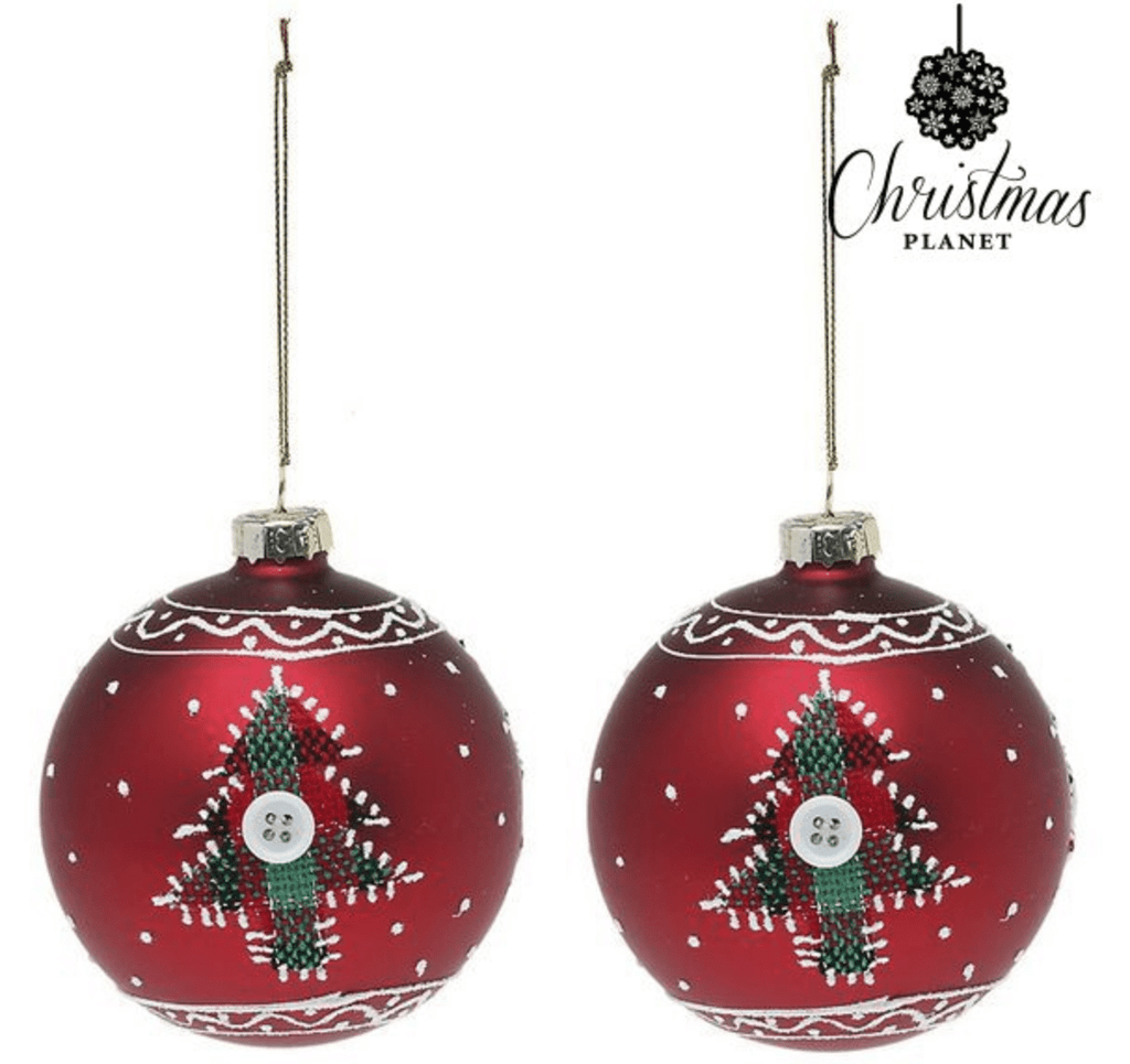 Crystal Red Christmas Baubles