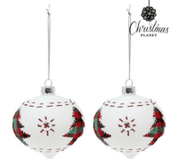 Crystal White Christmas Baubles