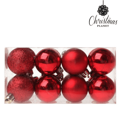 Plastic Red Christmas Baubles
