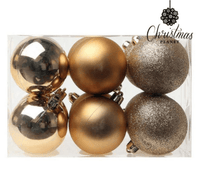 Plastic Gold Christmas Baubles