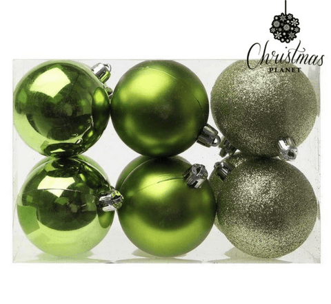 Plastic Green Christmas Baubles
