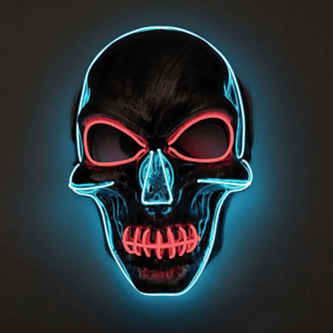 Image of skull led mask