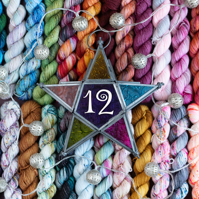 12 Day Advent - Fingering Weight - Twisty Mini