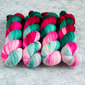 Candy Cane Lane - Fingering Weight - Sock