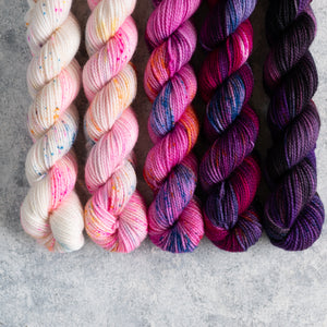 Happy Dance - 5 Skein Gradient Set - Twisty 20g Mini