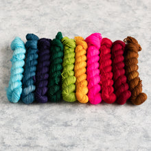 Load image into Gallery viewer, Christmas Rainbow - 10 Skein Set - Sock 20g Mini