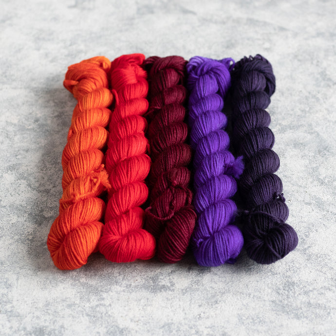 Monster Mash - 5 Skein Gradient Set - Sock 20g Mini
