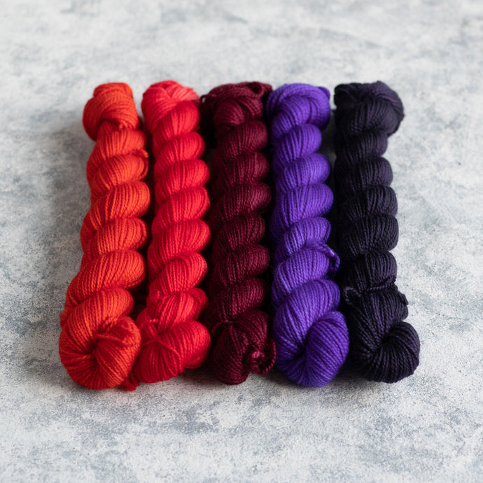 Monster Mash - 5 Skein Gradient Set - Twisty 20g Mini