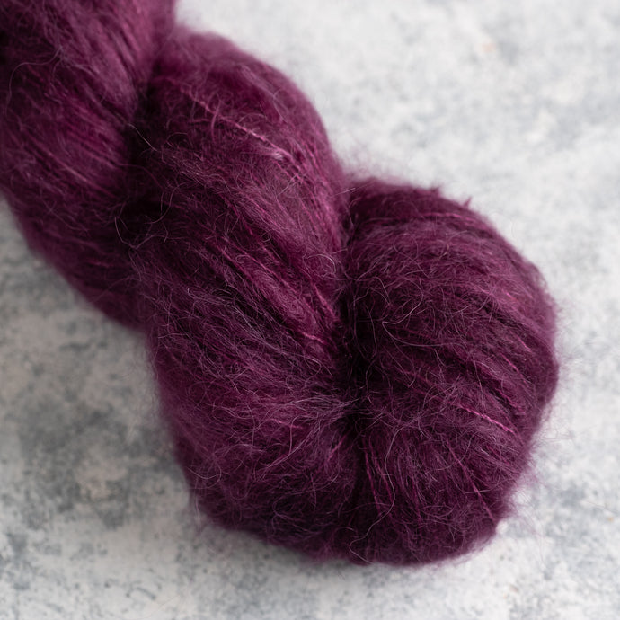 Plum - Lace Weight - Suri Silk Cloud