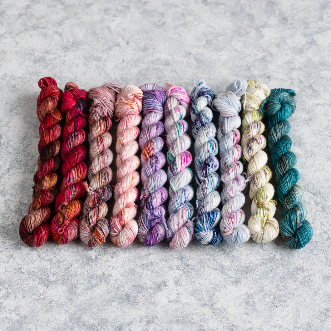 Festive Faves - 10 Skein Set - Sock 20g Mini