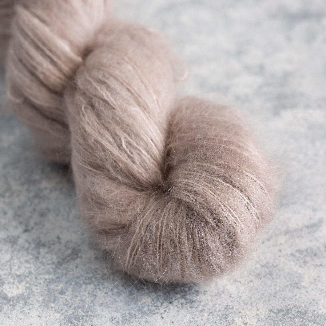 Taupe - Lace Weight - Suri Silk Cloud