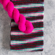 Load image into Gallery viewer, Candy Cane Lane - Sparkle - Knitted Sock Tube 50g