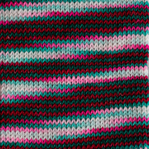 Candy Cane Lane - Sparkle - Knitted Sock Tube 50g