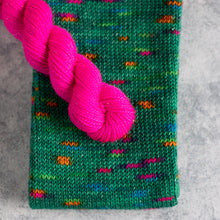 Load image into Gallery viewer, Tree Of Lights - Sparkle - Knitted Sock Tube 50g
