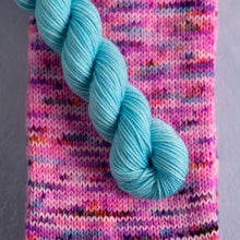 Load image into Gallery viewer, Rich Peaseblossom - Knitted Sock Tube 50g