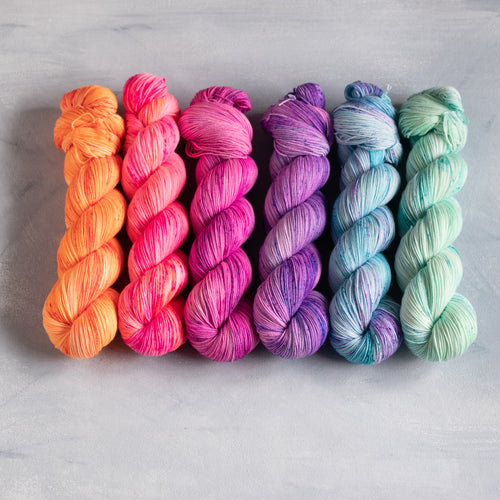 Summer Breeze  - 6 Skein Gradient Set - Twisty - 100g's