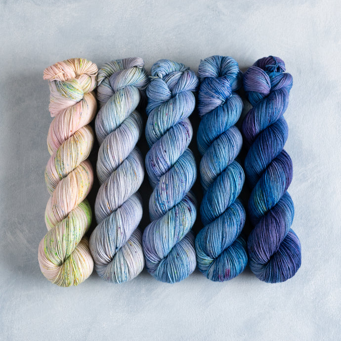 Bluebell Glade - 5 Skein Gradient Set - Sock 100g's