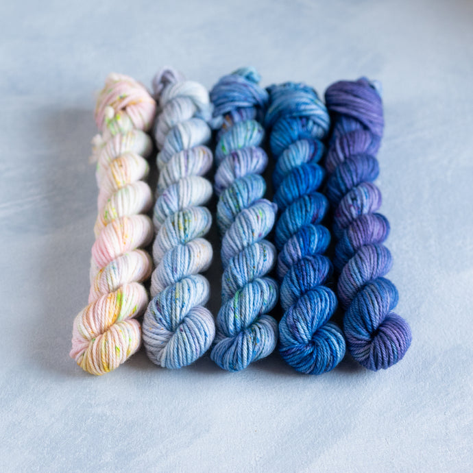 Bluebell Glade - 5 Skein Gradient Set - Sock 20g Mini