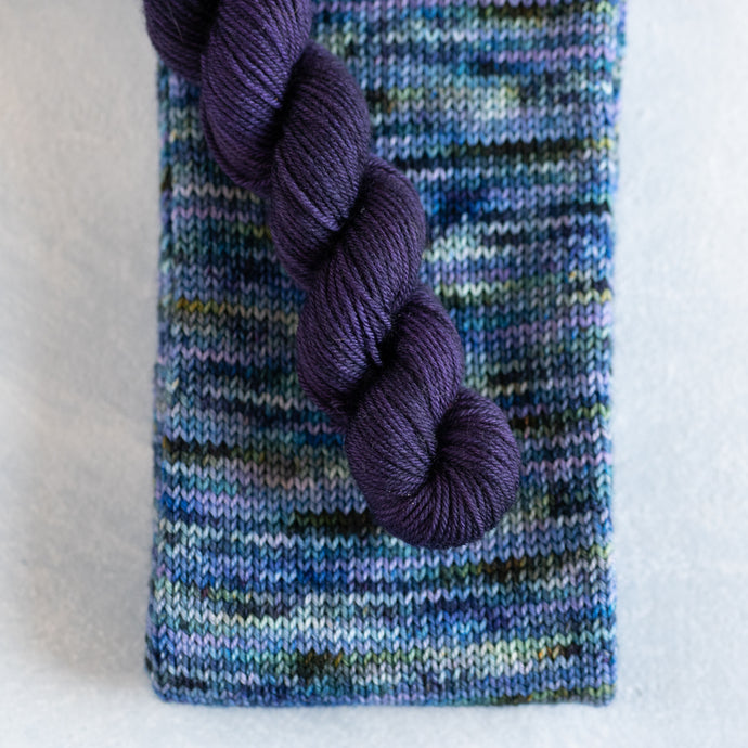 Midnight Sea - Knitted Sock Tube 50g