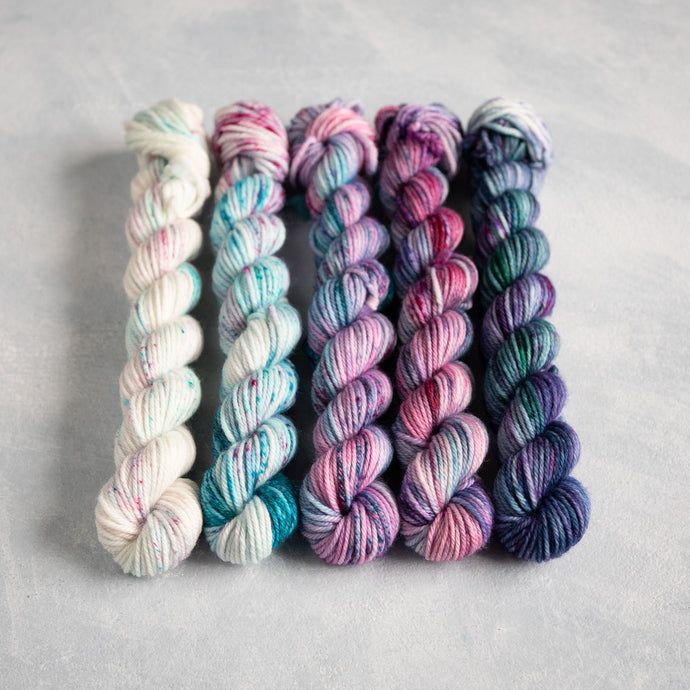 I'll Be Your Mermaid - 5 Skein Gradient Set - DK 20g Mini