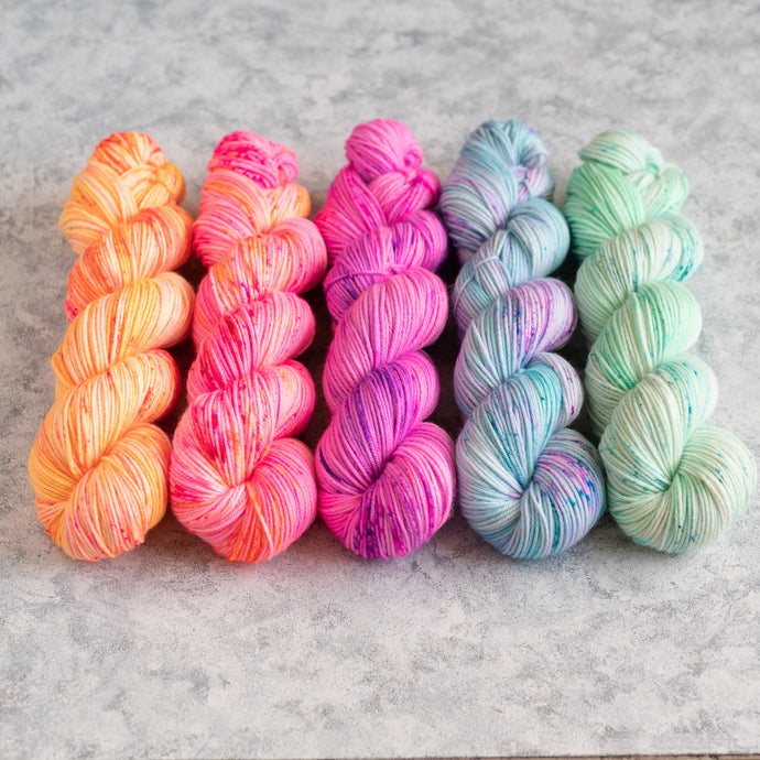 Summer Breeze - 5 Skein Gradient Set - DK Mini 20g's