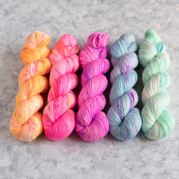 Summer Breeze - 5 Skein Gradient Set - Sock Mini 20g's