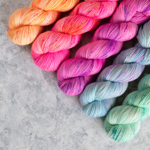Summer Breeze - 5 Skein Gradient Set - Sparkle 100g's
