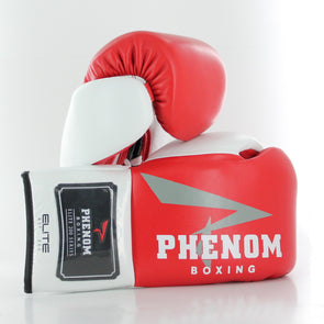 Elite RSF-200 Professional Fight Gloves (Red/White)