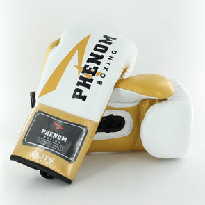 Elite XDF-200 Professional Fight Gloves (White/Gold)
