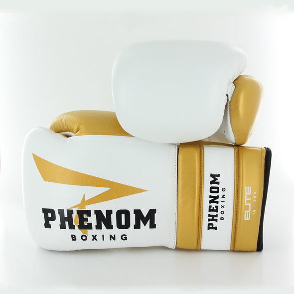 Elite SG-200 Professional Sparring Gloves (White/Gold)