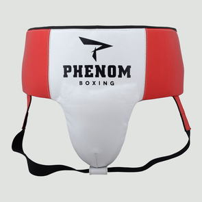 Elite GP-200 Professional Groin Guard (White/Red)