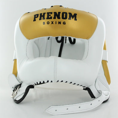 Elite FSHG-200 Professional Head Guard (White/Gold)