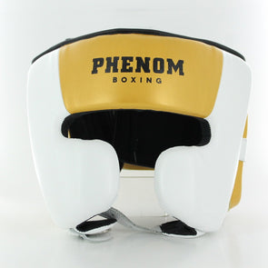 Elite SHG-200 Professional Head Guard (White/Gold)