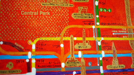 NYC Railway System Painting