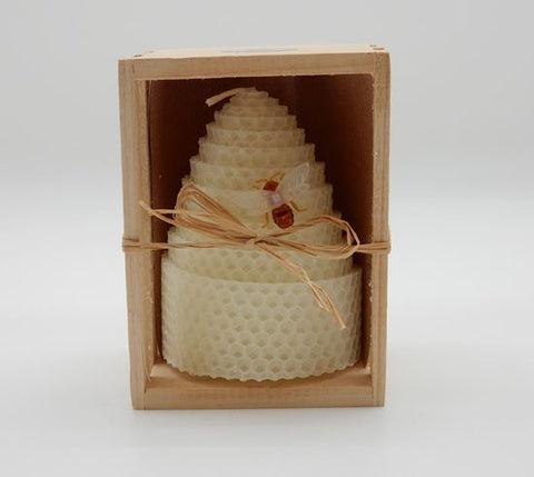 "4"" Beeswax Honeycomb Shaped Candle"