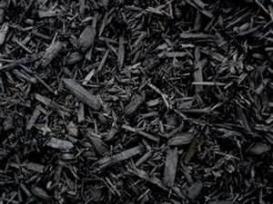 Dyed Black Mulch - Bulk (Per Yard)